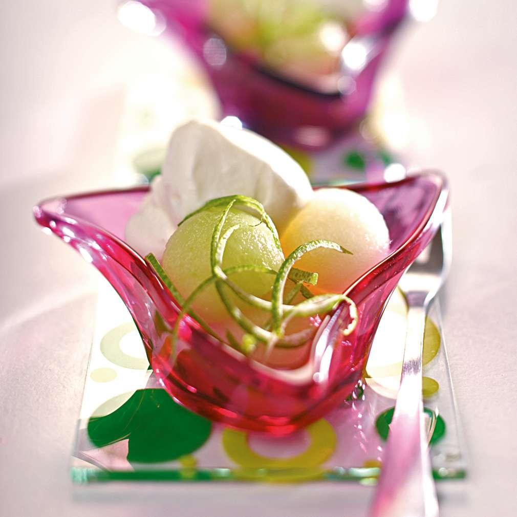 Изобразяване на рецептата Пъпеш със сладолед