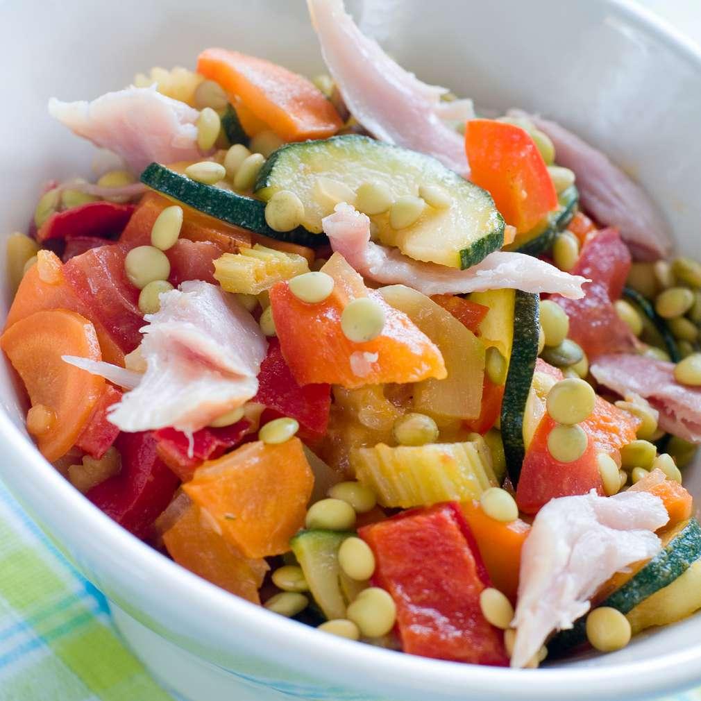 Imaginea rețetei Salată de țelină, pui și praz