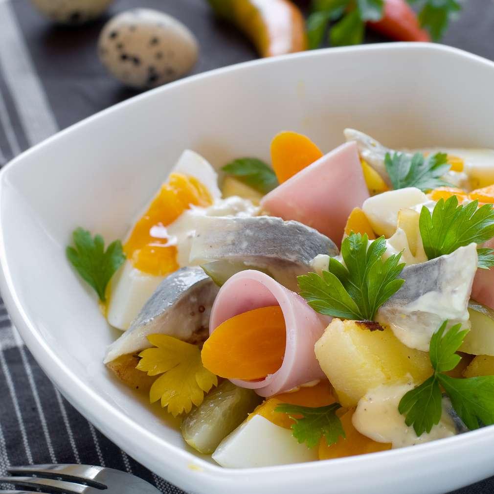 Imaginea rețetei Salată cu șuncă