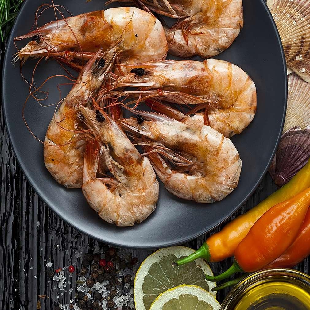 Zobrazit Grilované krevety s medem receptů