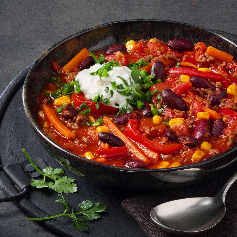 Abbildung des Rezepts Chili con Carne mit Hirtenkäse
