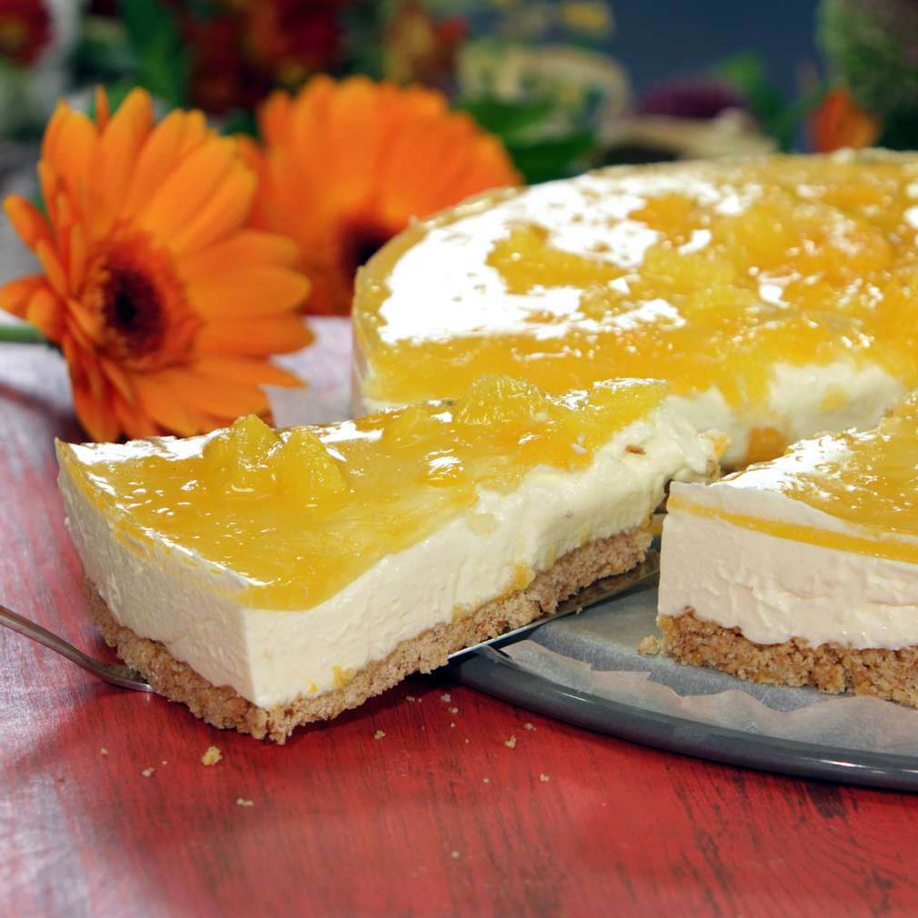 Изобразяване на рецептата Чийзкейк с мандарини и портокали
