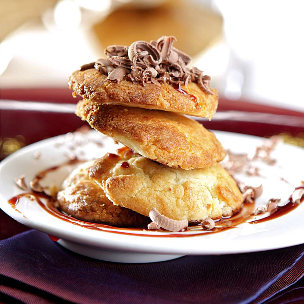 Изобразяване на рецептата Бисквити с шоколад и карамел