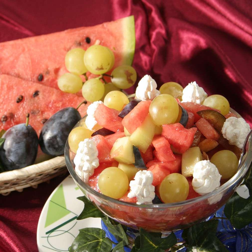 Imaginea rețetei Salată de pepene galben și verde
