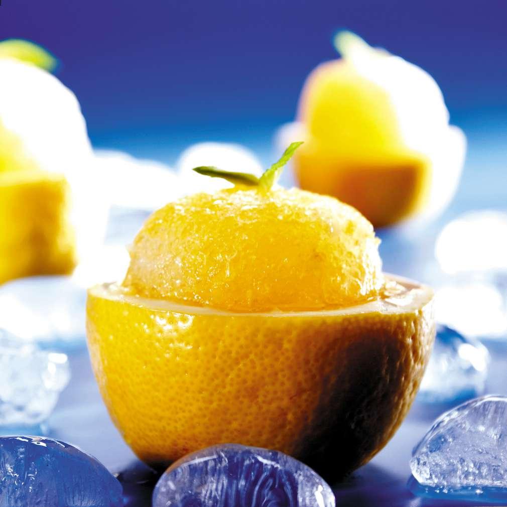 Изобразяване на рецептата Лимоново сорбе