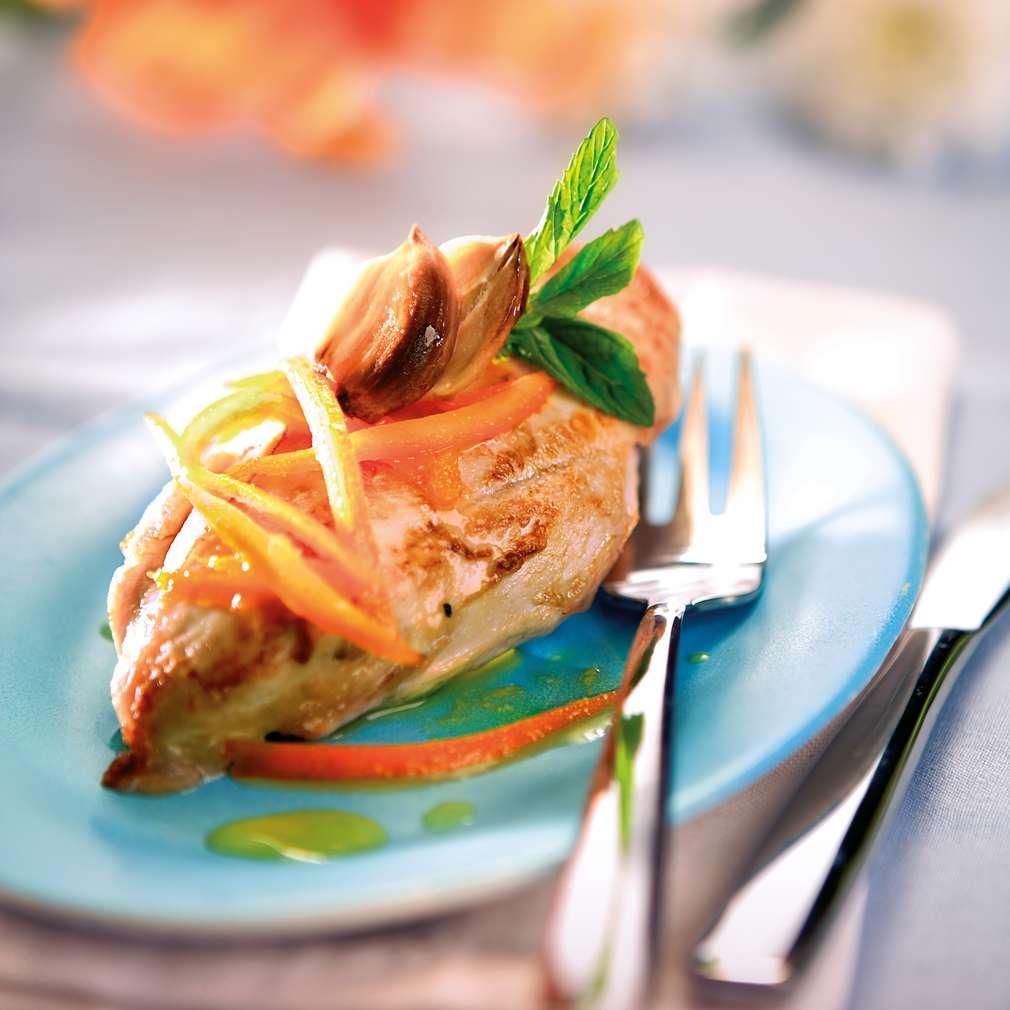 Изобразяване на рецептата Пиле с портокал