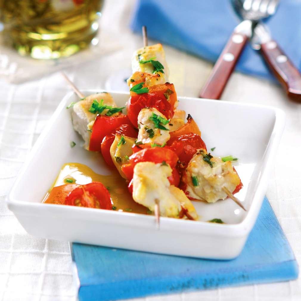 Изобразяване на рецептата Пилешки шишчета с чесново-горчичена паста