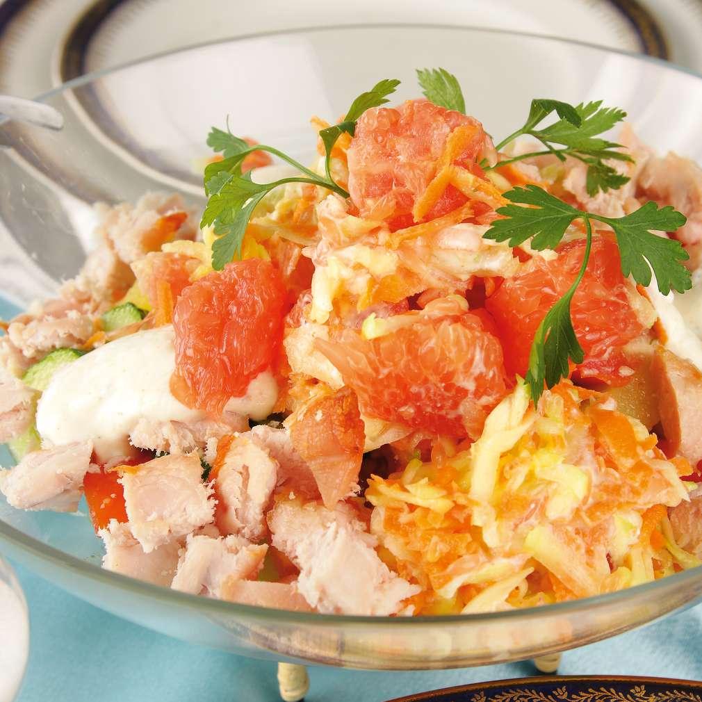 Salată de pui cu grepfrut