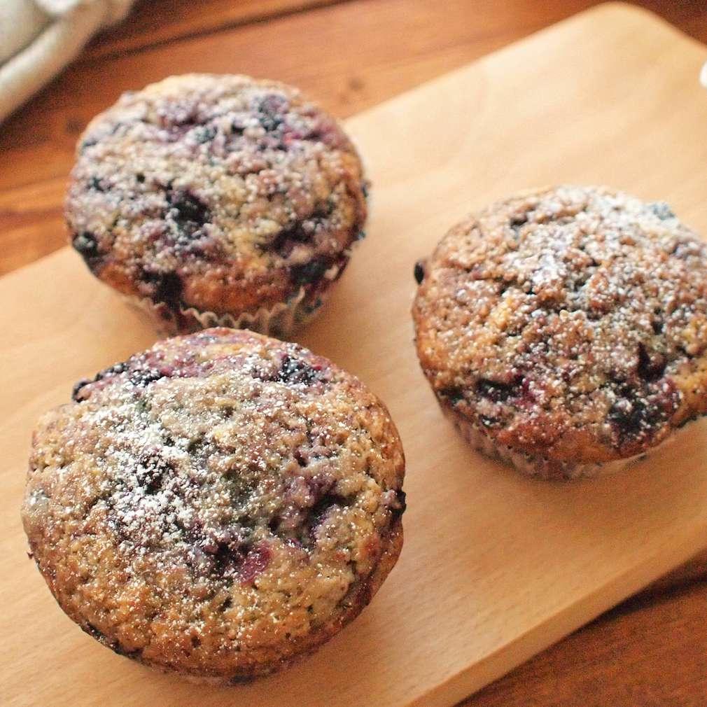 Zobrazit Špaldové muffiny s borůvkami receptů