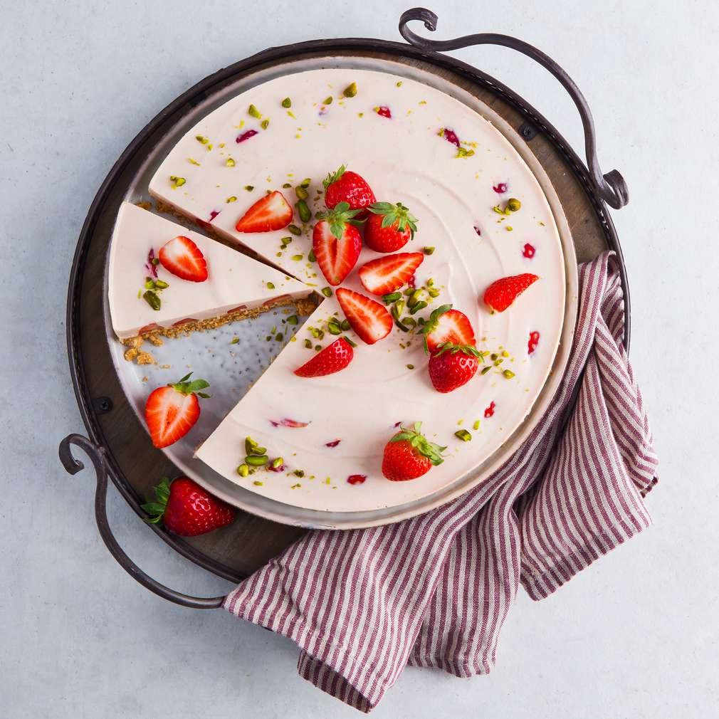 Abbildung des Rezepts Erdbeer-Philadelphia-Torte ohne Backen