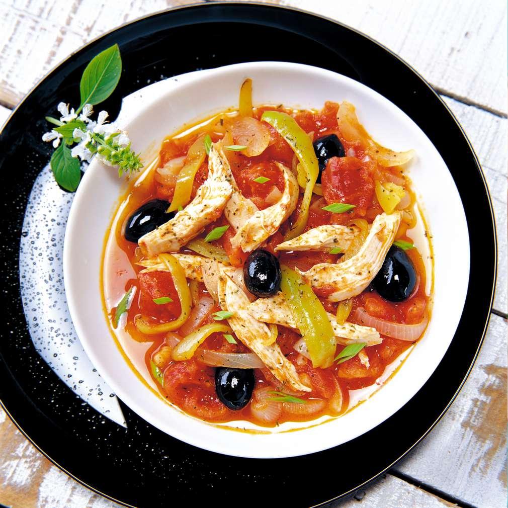 Изобразяване на рецептата Пиле с домати и маслини