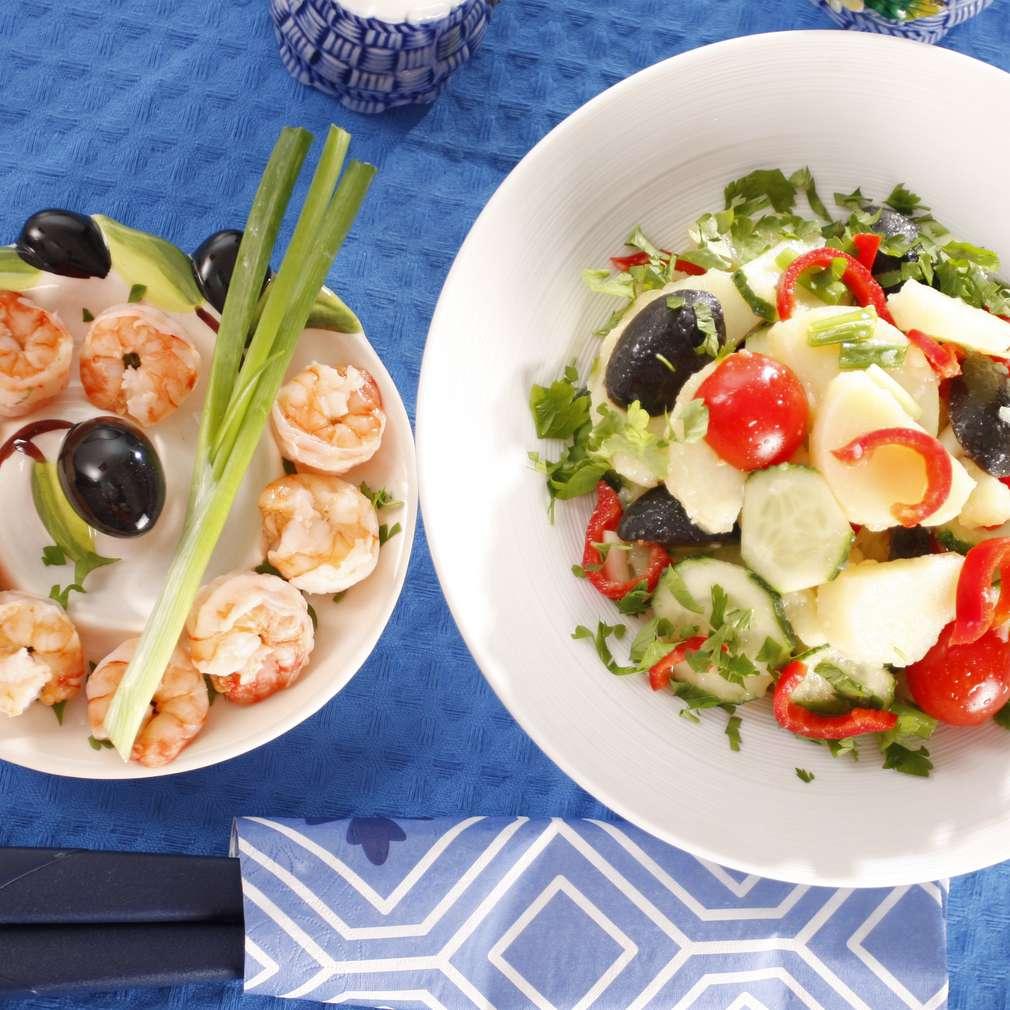 Imaginea rețetei Salată cu creveți