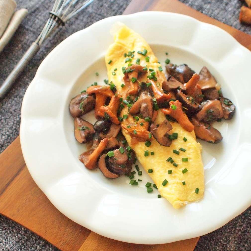 Zobrazit Omeleta s hříbky na tymiánu receptů