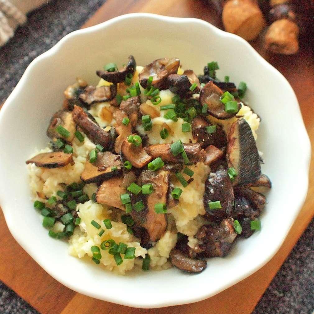 Zobrazit Šťouchané brambory s hříbky receptů