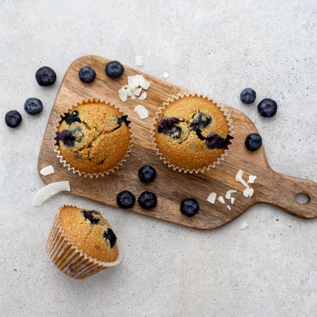 Zobrazit Bezlepkové muffiny s borůvkami a kokosem receptů