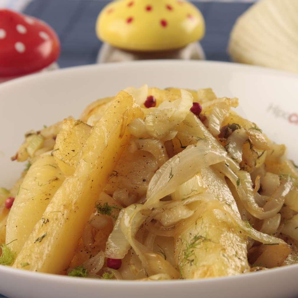 Imaginea rețetei Piept de pui cu sos de fenicul și ciuperci
