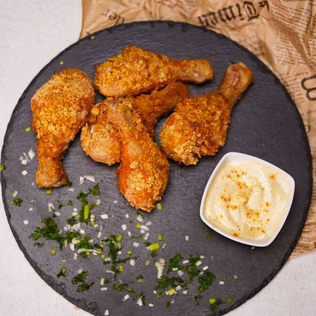 Изобразяване на рецептата Хрупкави пилешки бутчета с корнфлейкс