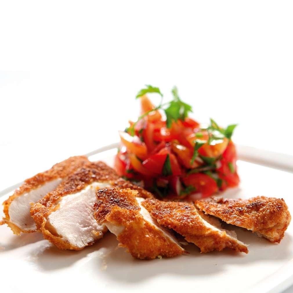 Изобразяване на рецептата Шницел от пиле със салца
