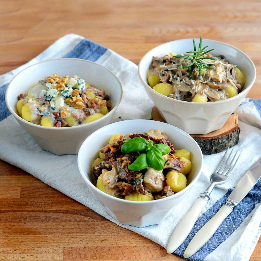 Zobrazenie receptu Gnocchi s troma omáčkami