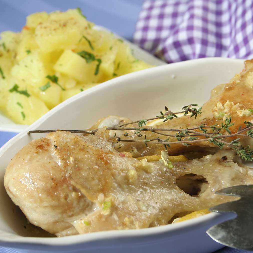 Imaginea rețetei Pulpițe de pui cu usturoi
