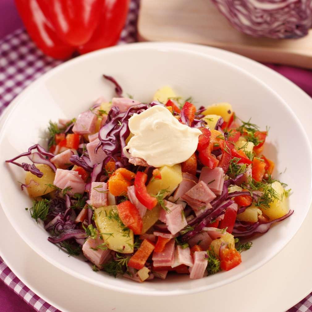 Imaginea rețetei Salată cu varză roșie