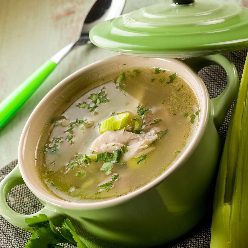 Supă de praz și pui