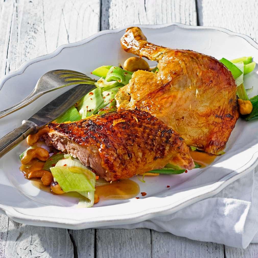 Abbildung des Rezepts Gin-Orangen-Ente vom Grill