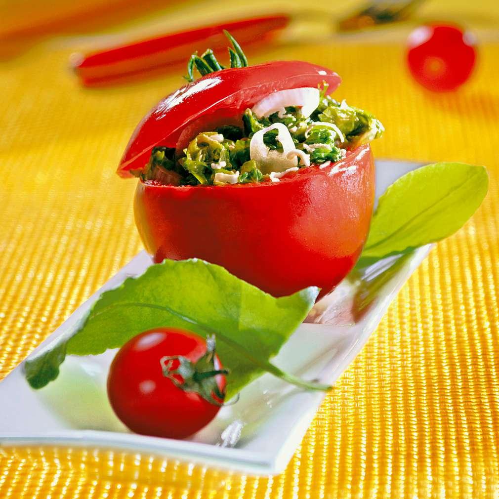 Изобразяване на рецептата Пълнени домати със спанак