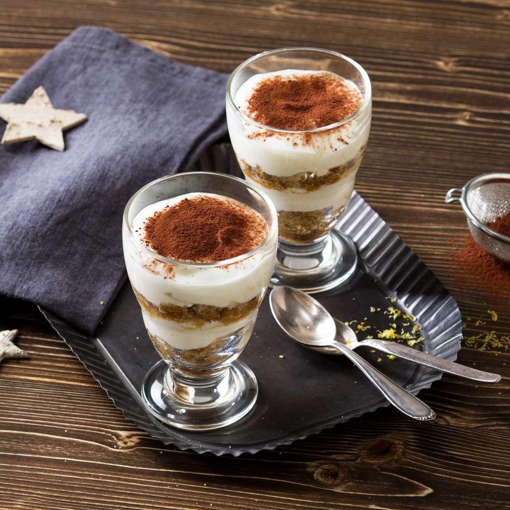 Изобразяване на рецептата Бързо тирамису с кисело мляко, бишкоти и кафе