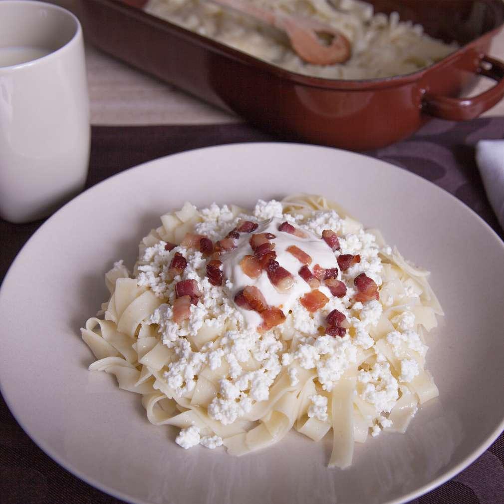Zobrazenie receptu Tvarohové rezance so slaninou