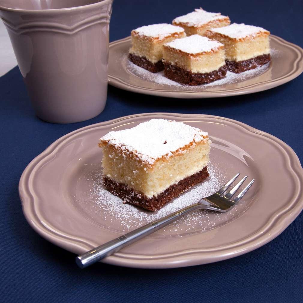 Zobrazenie receptu Trojfarebný tvarohový koláč