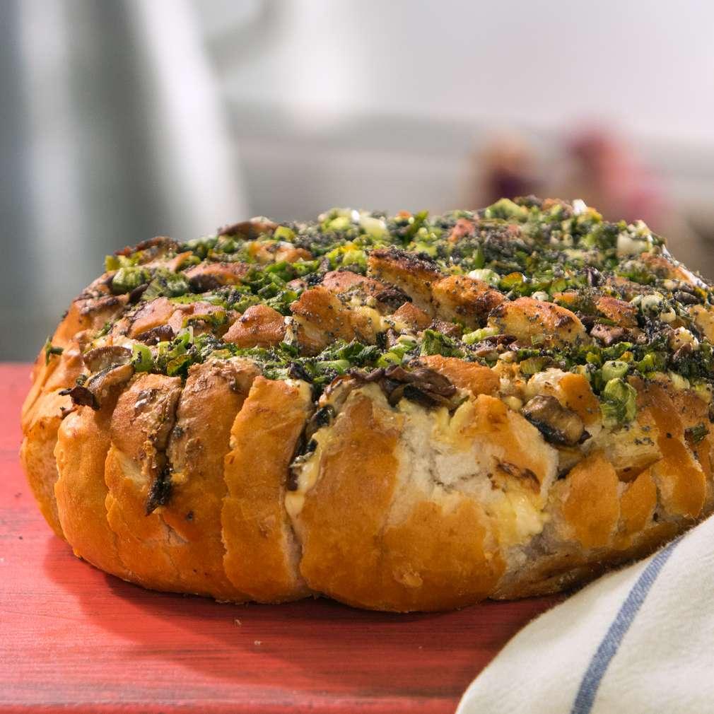 Изобразяване на рецептата Хляб с гъби и сирене