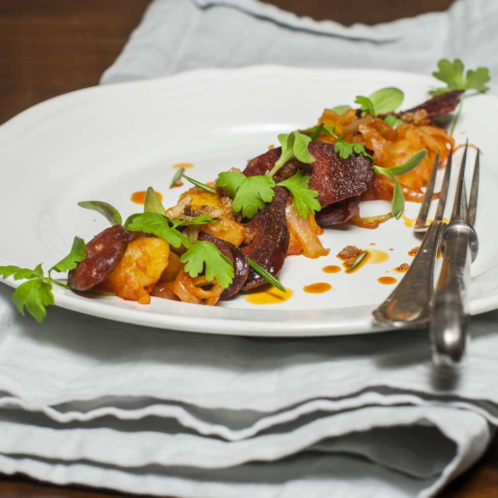 Zobrazenie receptu Zemiaky s klobásou a kyslou kapustou