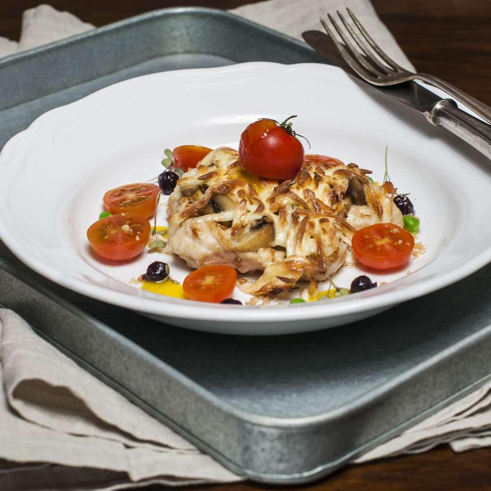 Zobrazenie receptu Zapekané morčacie rezne so šampiňónmi