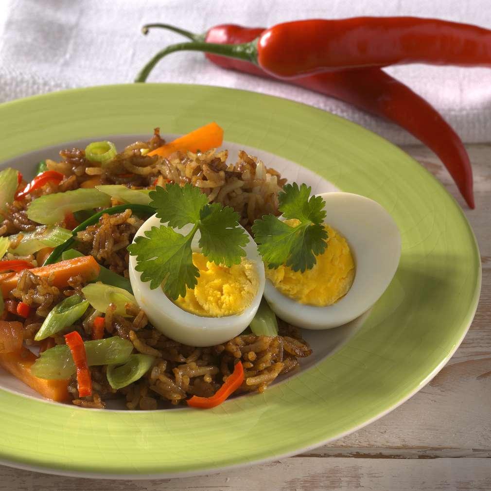 Abbildung des Rezepts Gebratener Reis mit Eiern