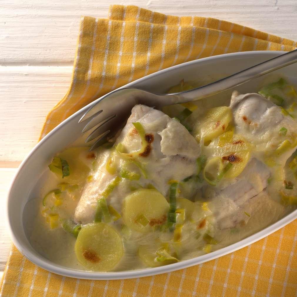 Abbildung des Rezepts Zanderfilet im Kartoffel-Lauch-Bett