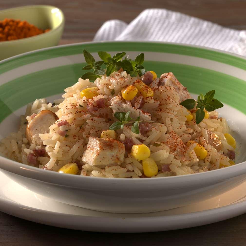 Abbildung des Rezepts Reis mit Hähnchenfleisch und Mais