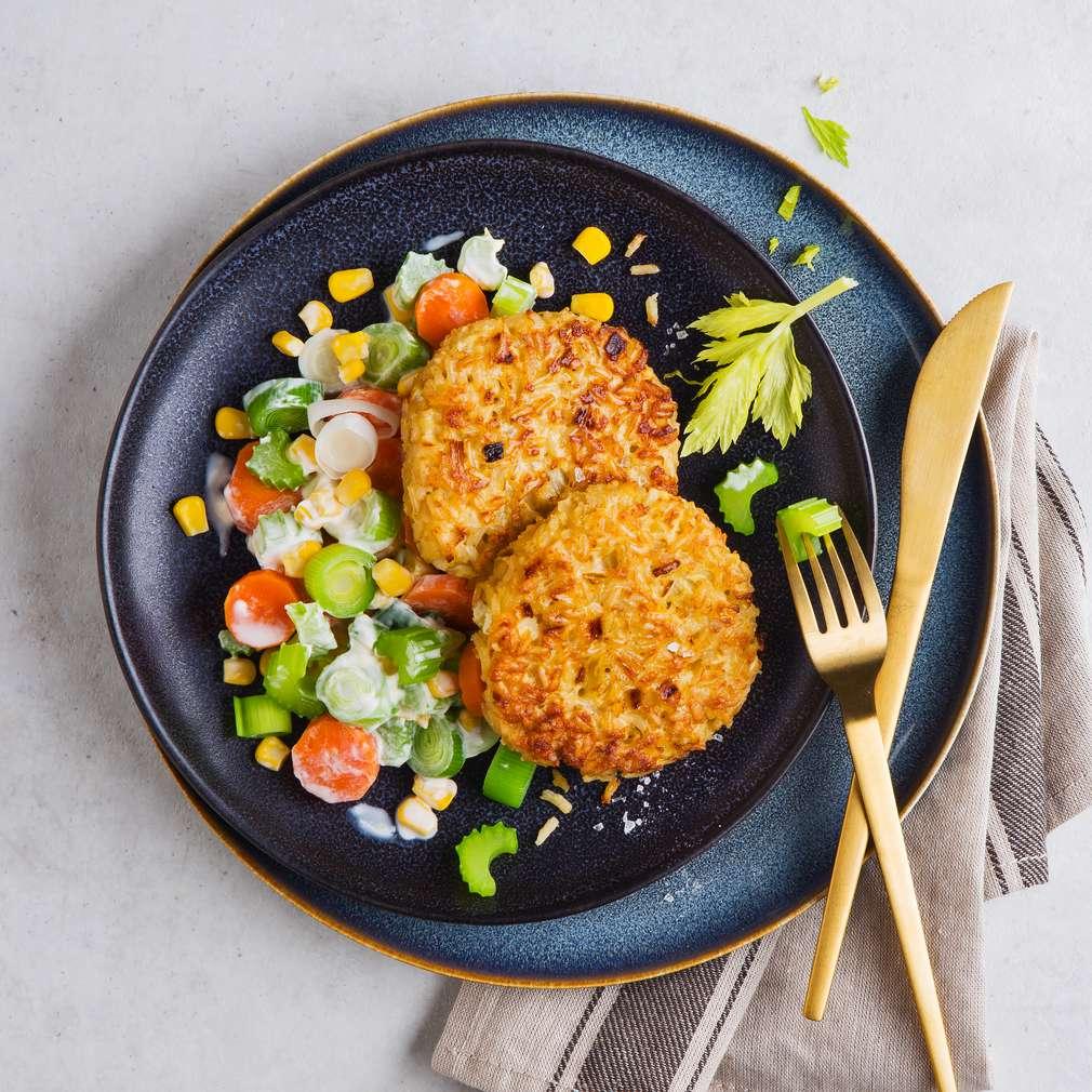 Abbildung des Rezepts Reisfrikadellen mit Gemüse