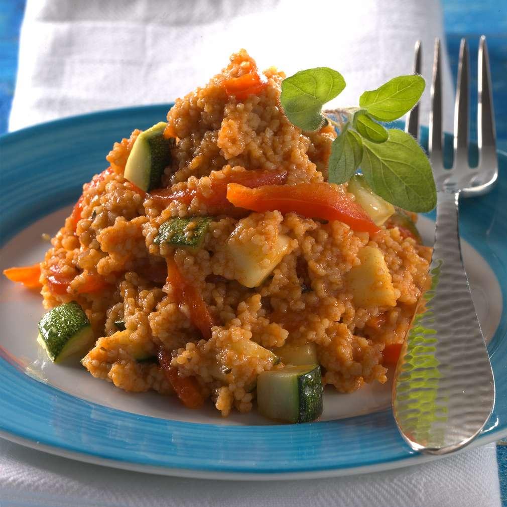 Abbildung des Rezepts Vegetarische Paprika-Couscous-Pfanne