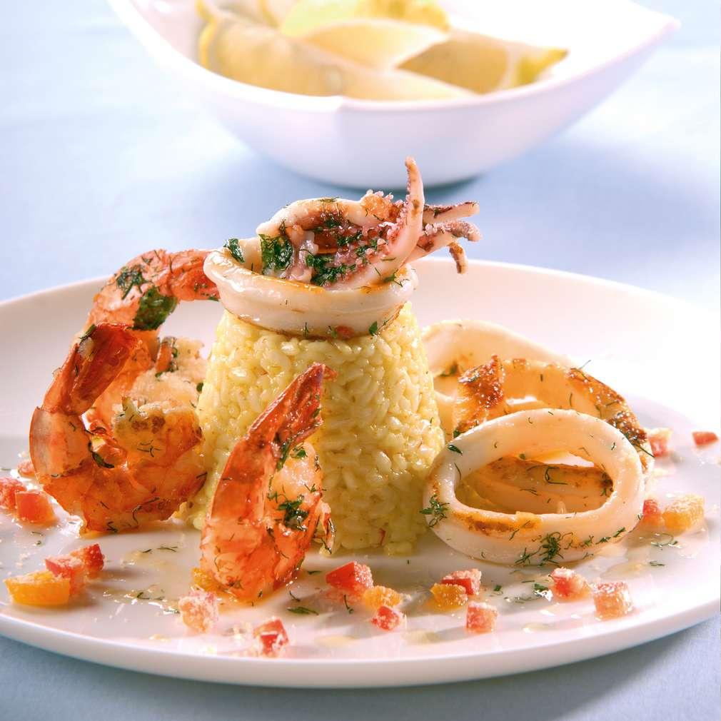 Изобразяване на рецептата Скариди и калмари на скара