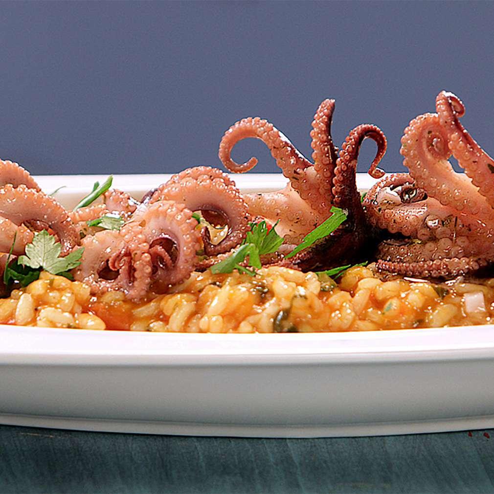 Изобразяване на рецептата Ризото с бейби октоподи