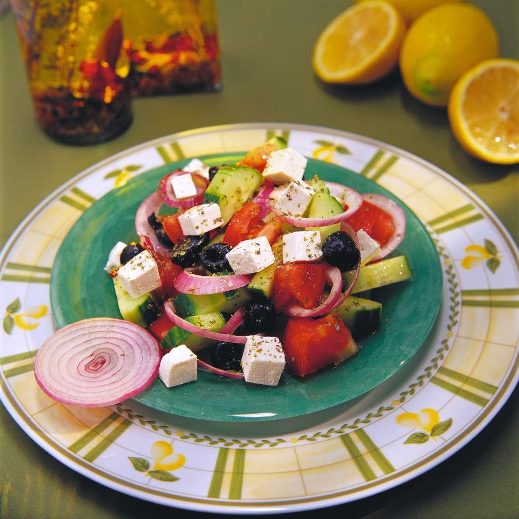 Изобразяване на рецептата Гръцка салата