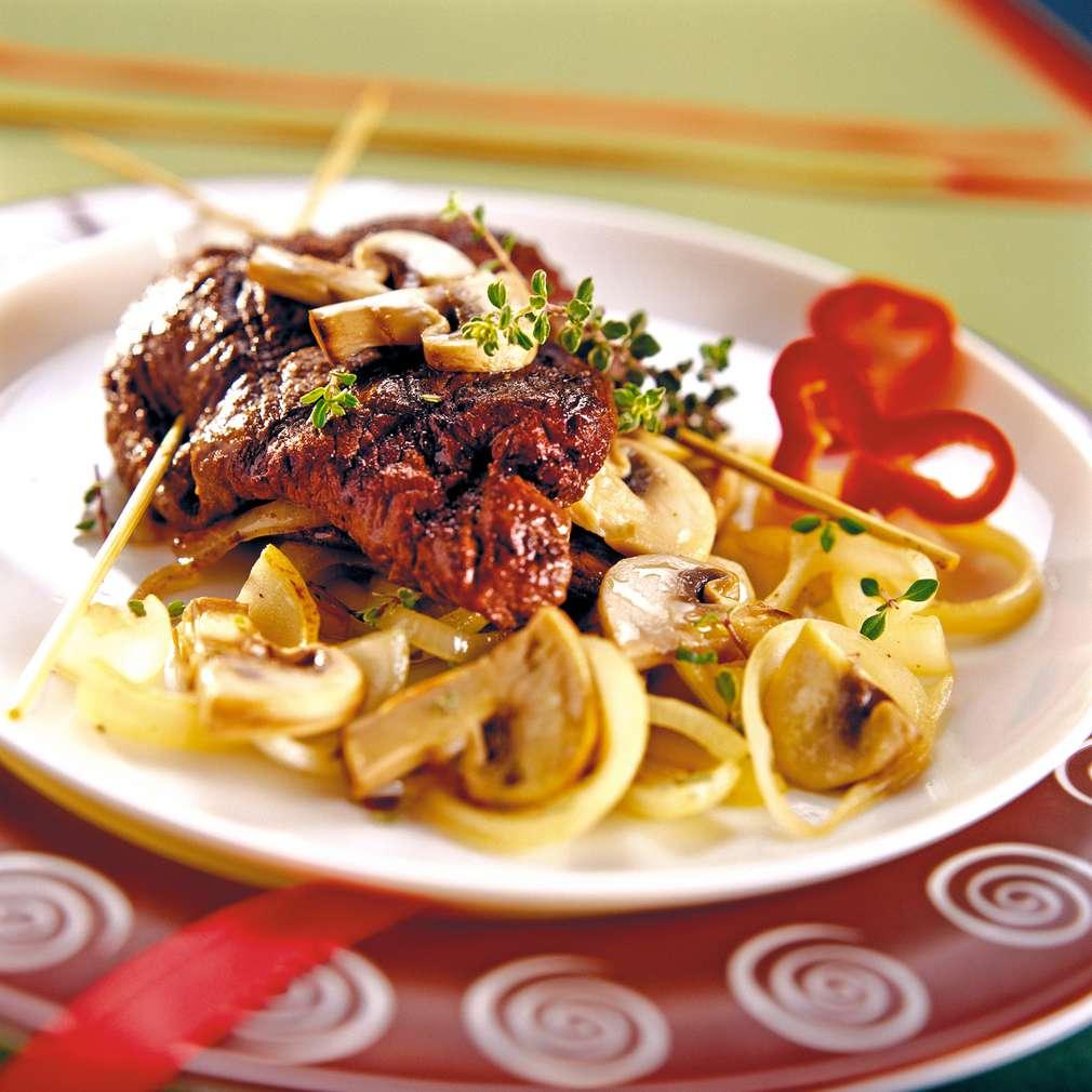 Изобразяване на рецептата Пълнено телешко филе с лук
