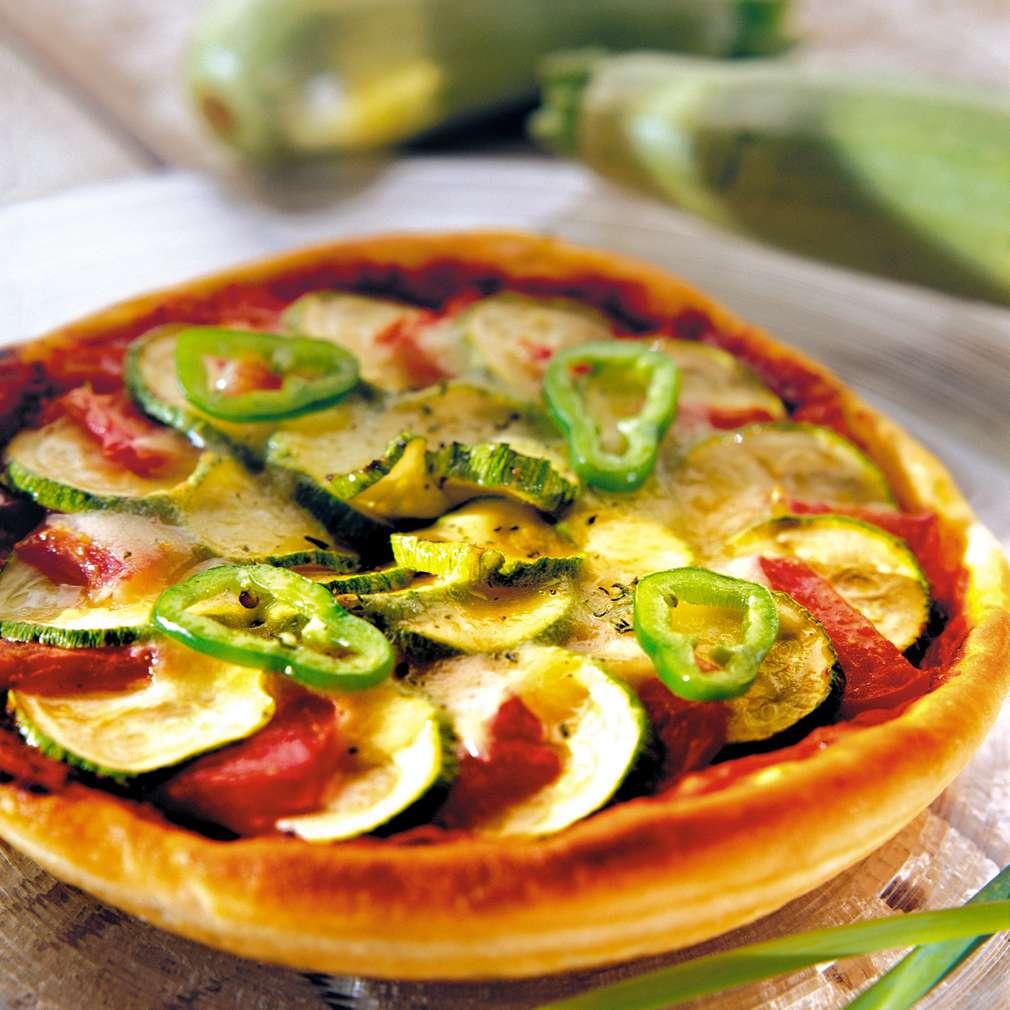 Изобразяване на рецептата Пица с тиквички