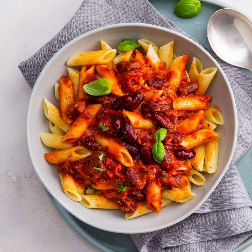 Zdjęcie przepisu Makaron z sosem pomidorowym