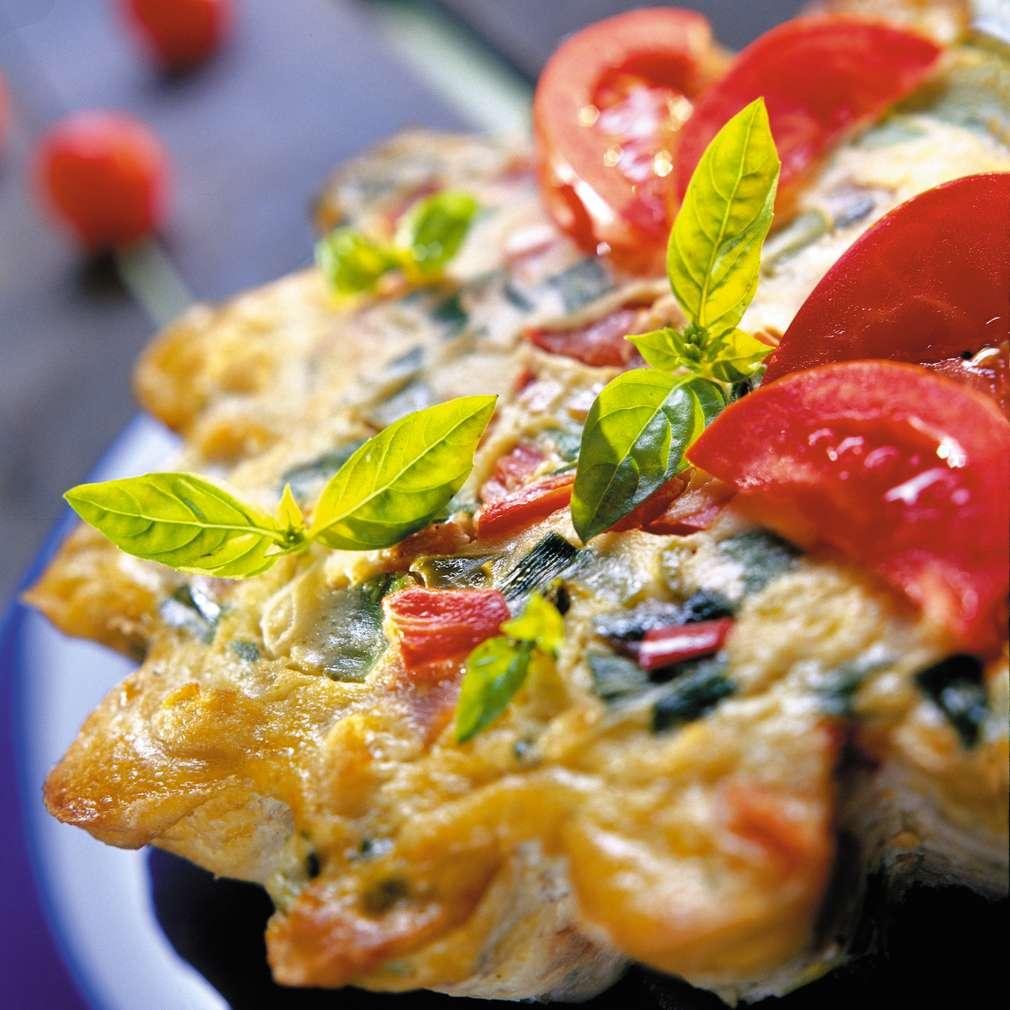 Изобразяване на рецептата Зеленчуков тарт с прошуто крудо