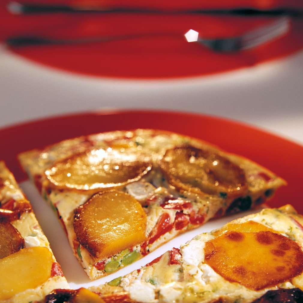 Изобразяване на рецептата Тортиля с грах и сирене