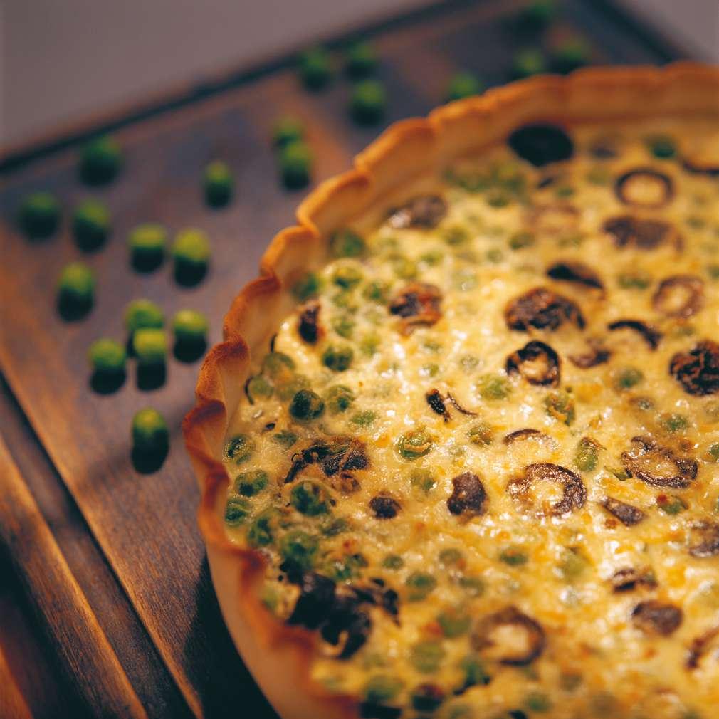 Изобразяване на рецептата Торта с грах и маслини