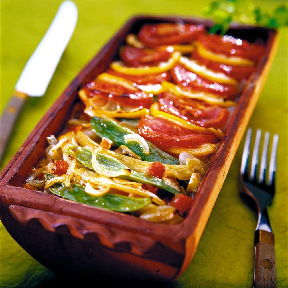 Изобразяване на рецептата Плакия от зелен фасул