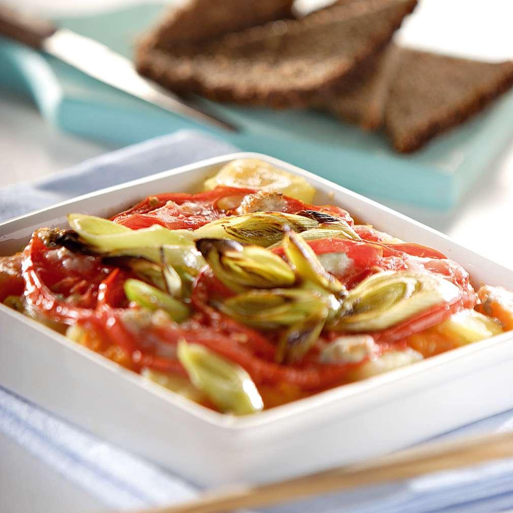 Изобразяване на рецептата Огретен с тиква и домати